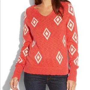 Lucky Brand Diamond Intarsia Sweater M
